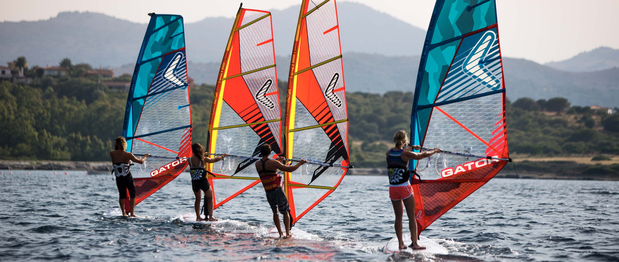 windsurfers group