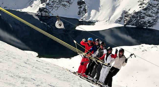 Roca Jack drag in Portillo, Chile