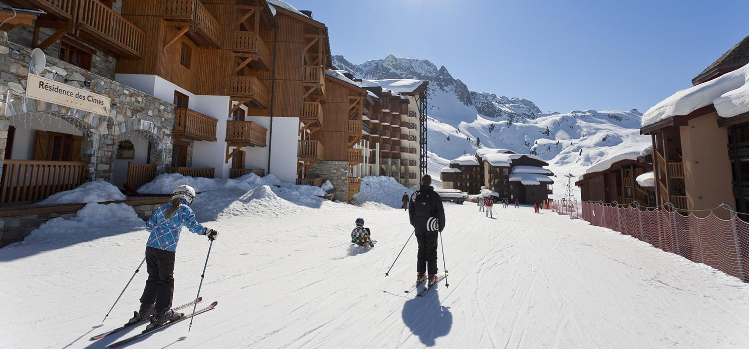 Ski past your chalet