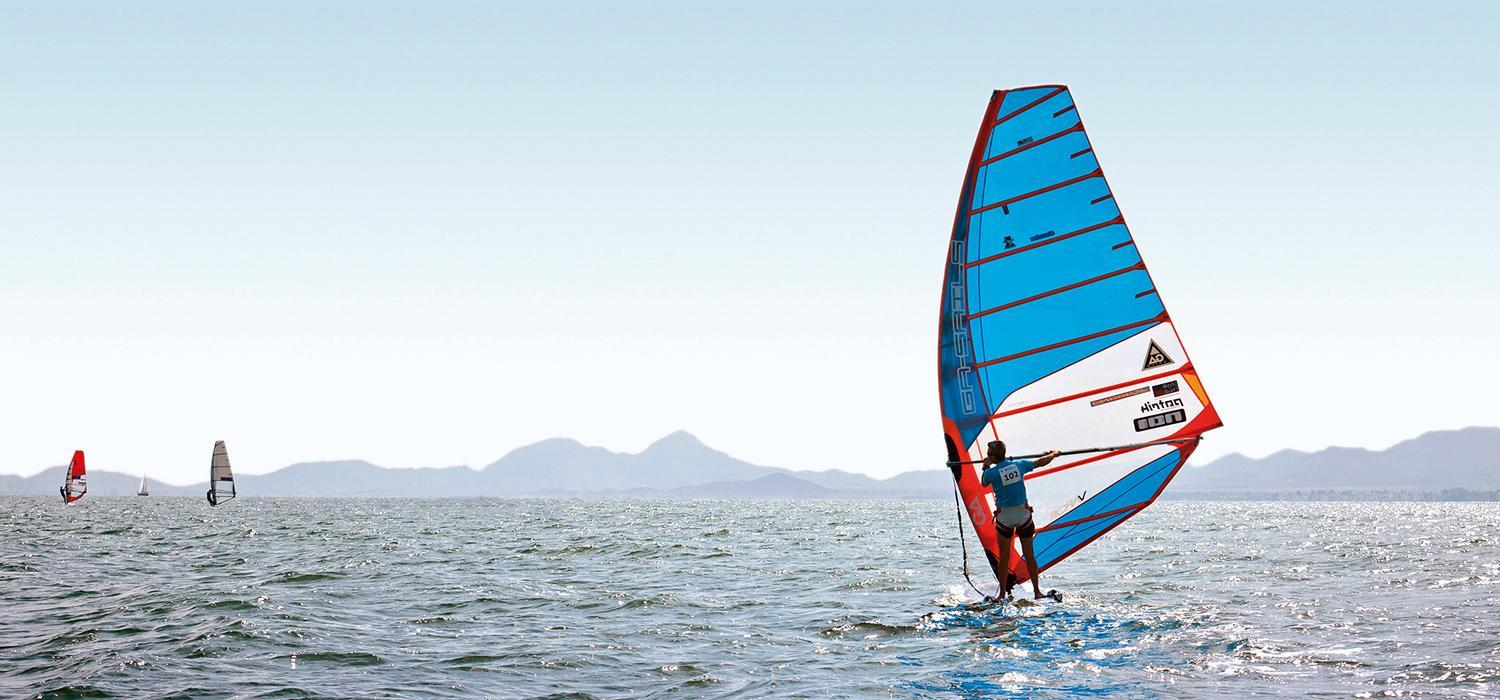 windsurfing on Mar Menor