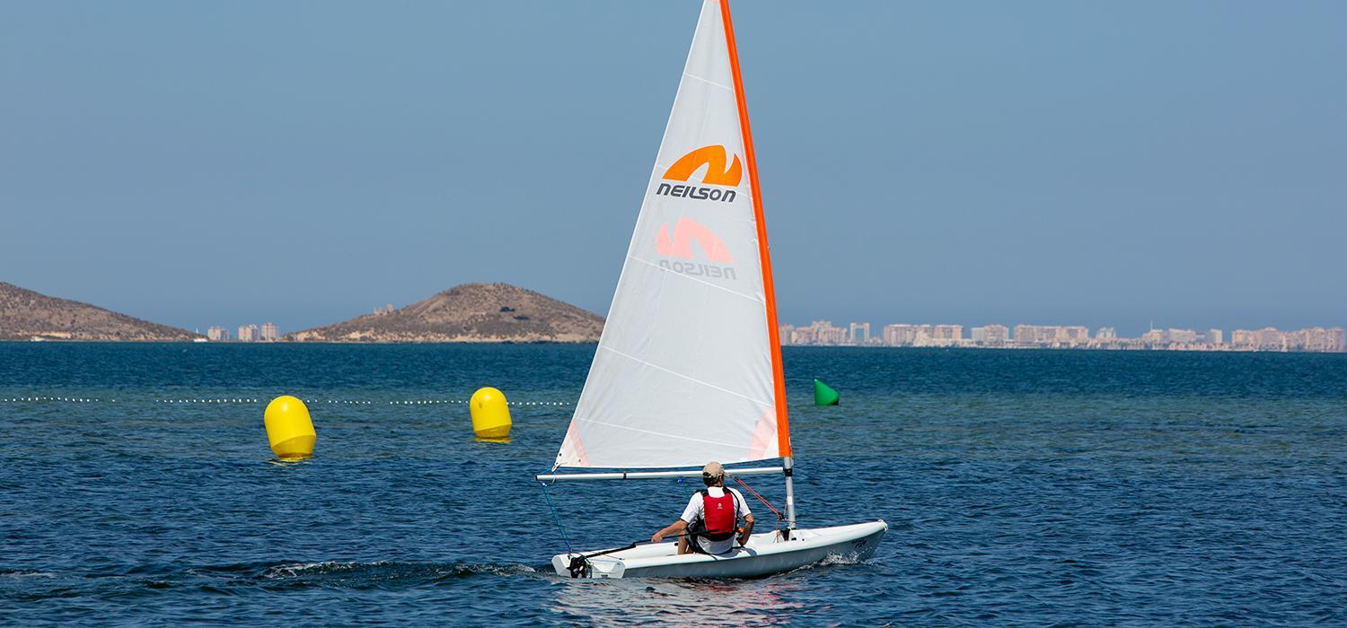 dinghy sailing on Mar Menor