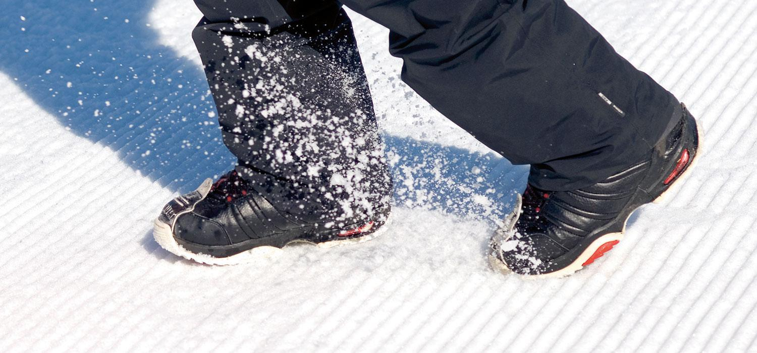 walking in snowboard boots
