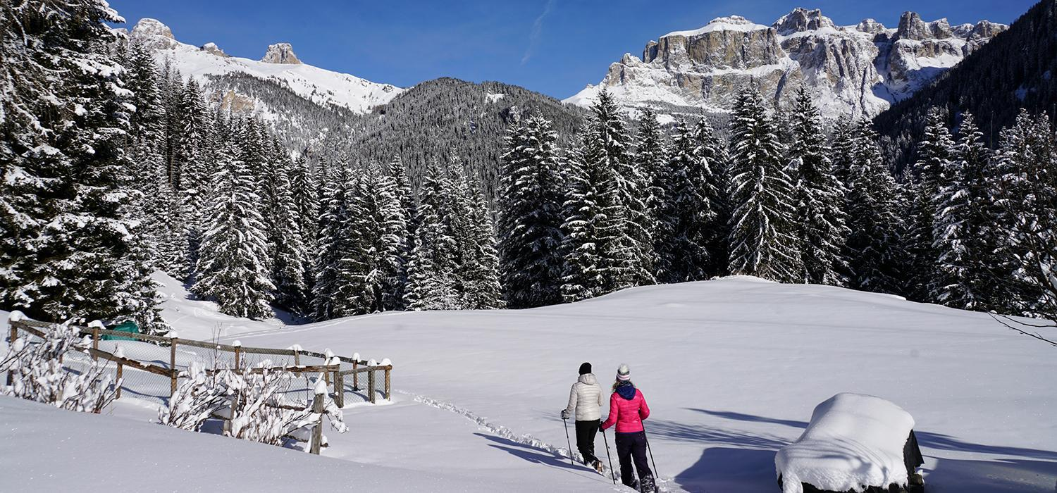 winter walking in val di fassa