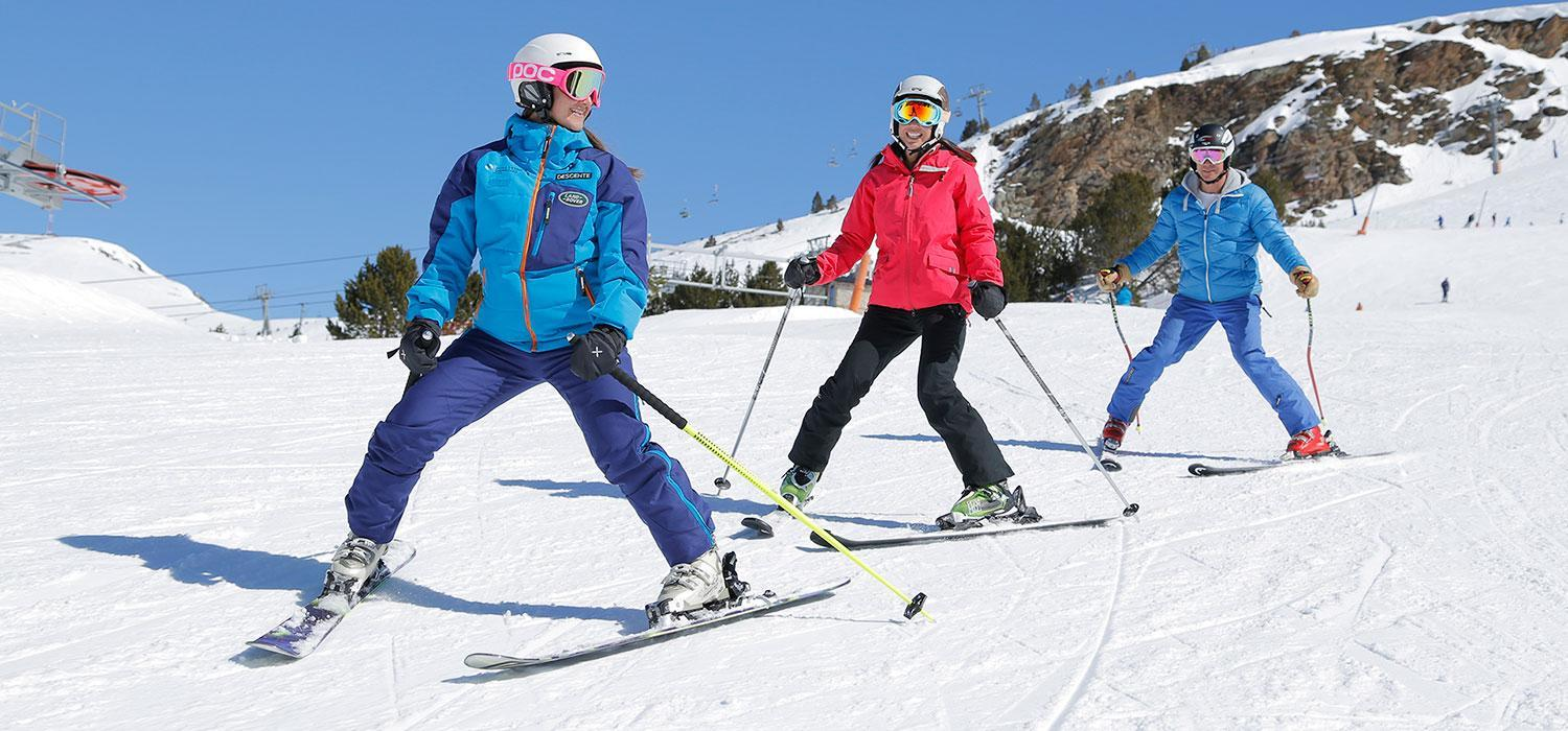 learning to ski in Andorra