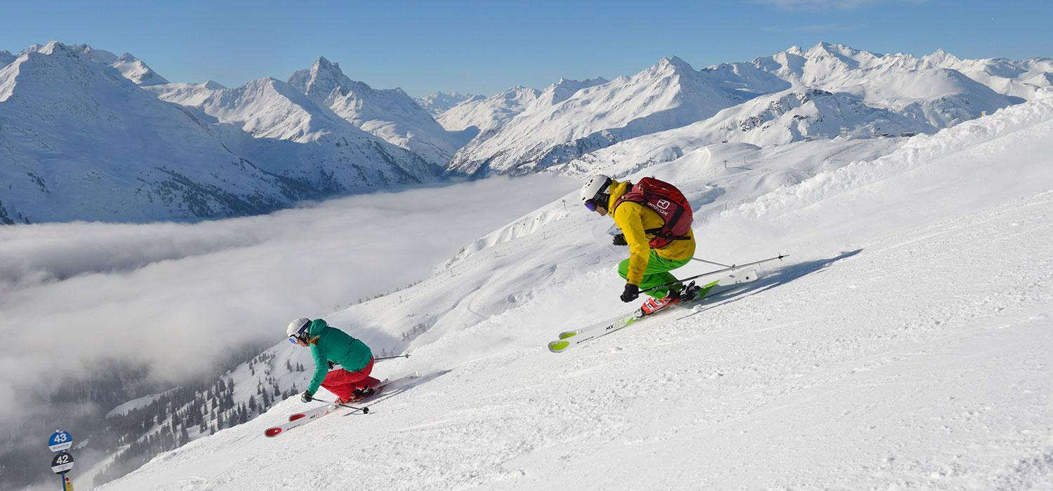 two skiers in st Anton