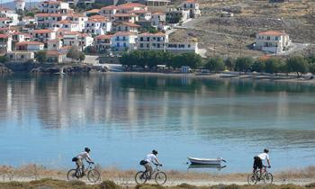 Three great cycle routes on Lesvos