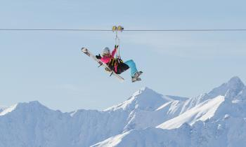 Tyrolienne lift Val Thorens