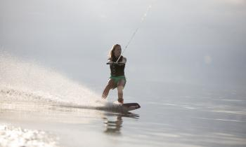 Beginner wakeboarding