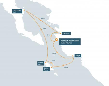 North Ionian one week flotilla route