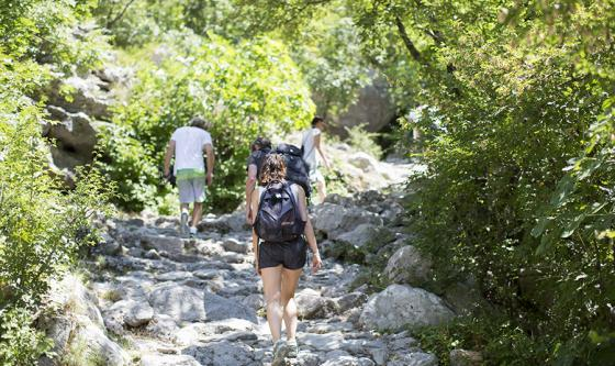 walking in the Paklenica National Park