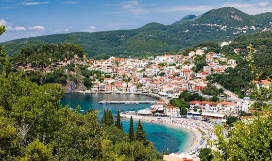 The beaches and town of Parga