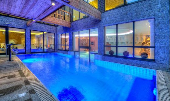 The impressive indoor pool