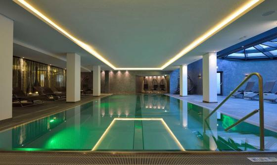 The modern indoor heated pool